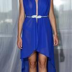 Model Hera - Modrá | dlouhé modré letní plážové šaty na plavky | Beach Swan