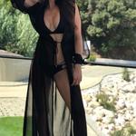 Model Princess - Černá | dlouhé černé letní plážové šaty na plavky | Beach Swan