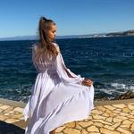 Model Queen - Bílá | dlouhé bílé letní plážové šaty na plavky | Beach Swan
