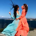 Model Queen - Lososová | dlouhé lososové letní plážové šaty na plavky | Beach Swan