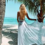 Artemis - bílá | dlouhé bílé plážové přehozy přes plavky nebo plážové šaty| Beach Swan