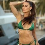 Adrianne | Luxusní sexy zelené dvoudílné dámské plavky | Beach Swan