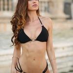 Christine | Luxusní sexy černé dvoudílné dámské plavky | Beach Swan