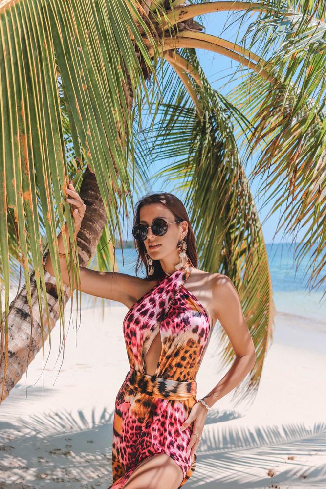 Model Paris - růžová | dlouhé růžové letní plážové šaty a přehoz na plavky | Beach Swan