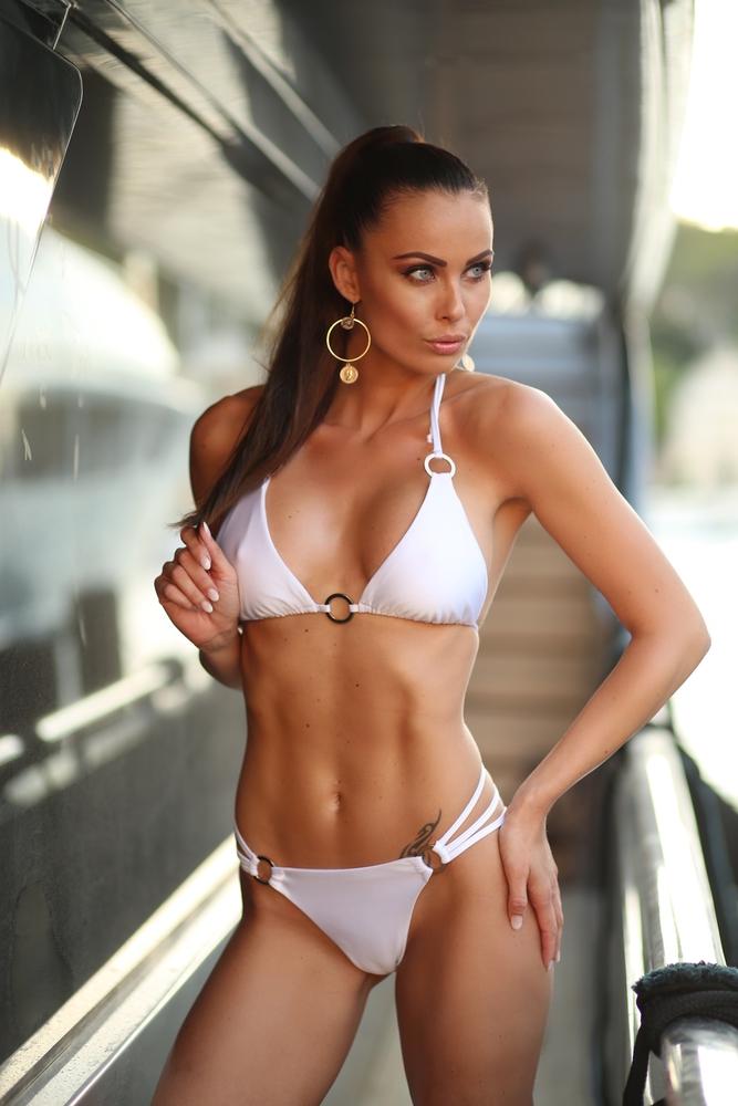 Christine | Luxusní sexy bílé dvoudílné dámské plavky | Beach Swan
